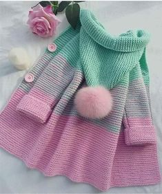 Crochet Patterns For Kids Sweaters Baby Cardigan 29 Ideas Knitting Terms, Knitting For Kids, Baby Knitting Patterns, Crochet For Kids, Baby Patterns, Knitting Projects, Crochet Baby, Knit Crochet, Crochet Patterns