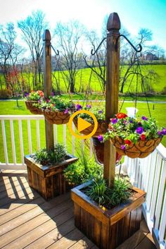 Diy wood planters, patio planters, ideas for planters, deck plants ideas, d Backyard Hammock, Backyard Patio, Backyard Landscaping, Landscaping Ideas, Hammock Ideas, Inexpensive Landscaping, Patio Gazebo, Large Backyard, Small Patio