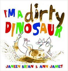 Friday, June 17, 2016. Stomp, splash, slide, dive ... This little dinosaur just loves mud!