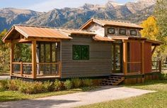 The Caboose: 400 Sq. Cabin by Wheelhaus I'm glad to be showing you the Caboose cabin designed by Wheelhaus. It's a luxurious 400 sq. cabin with 100 s. Modular Cabins, Prefab Cabins, Prefab Homes, Log Cabins, Modern Cabins, Tiny Cabins, Prefabricated Houses, Log Homes, Ideas De Cabina