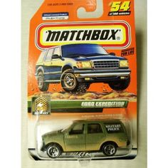 Matchbox 1999-54 of 100 Series 11 Military Ford Expedition 1:64 Scale by MATTEL. $4.99. SERIES 11. 1:64 Scale Collectible Die-Cast Car. 1999 Mattel Matchbox Series 11 Ford Expedition (Military Police) #54 of 100