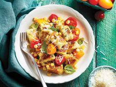 Ricotta gnocchi + corn salad