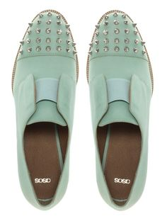 ASOS leather shoes with spike detail