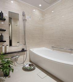 バスルーム | マンション・一戸建て 理想の間取り探し! Japan Modern House, Japanese Style Bathroom, Bath Cabinets, Minimal Home, Shower Panels, Home Room Design, Laundry In Bathroom, Bathroom Interior, Home Living Room