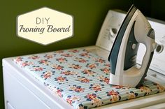 Table Top Ironing Board Tutorial.