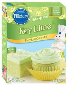 Key Lime Cake Mix  - My new Fave!!  I poke holes in it while it's cooling on a wire rack and pour a mixture of 1/2 c. frozen limeade concentrate and 1/2 c. powdered sugar over it to soak in.  Chill, then frost with whipped cream and serve with strawberries. I got so many compliments.  I have made it 4 times this spring already!
