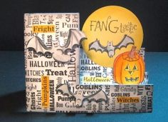 Check out the deal on Cover-a-Card Halloween Text at Impression Obsession Rubber Stamps Impression Obsession, Fall Cards, Halloween Cards, Goblin, Stamp, Cover, Projects, Log Projects, Autumn Cards
