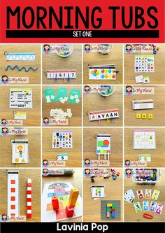 Kindergarten Morning Bins | Tubs | Centers Set 1 - In My World Kindergarten Reading Activities, Kindergarten Freebies, Kids Learning Activities, Reading Resources, Kindergarten Teachers, Teaching Ideas, Common Core Reading, Play Based Learning, Thing 1