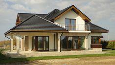 Naomi G2 – realizacja projektu - ARCHIPELAG Town House Plans, Rustic House Plans, Country House Plans, House Floor Plans, Home Building Design, Building A House, Beautiful House Plans, Modern Bungalow House, Small Tiny House
