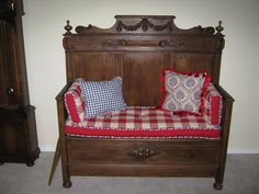 Gorgeous wood bench
