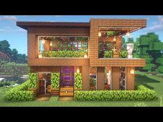 Modern Minecraft Houses, Minecraft House Plans, Minecraft Mansion, Minecraft Structures, Minecraft Houses Survival, Minecraft Cottage, Minecraft House Tutorials, Minecraft Room, Minecraft House Designs