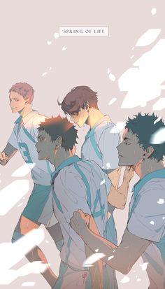 when you want all of them to win 😭 Anime Boys, Manga Anime, Manga Haikyuu, Haikyuu Fanart, Anime Art, Oikawa Tooru, Iwaoi, Kageyama, Haikyuu Wallpaper