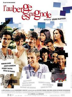 L'auberge espagnole With Romain Duris, Judith Godrèche, Kelly Reilly, Audrey Tautou. Written and directed by Cédric Klapisch. Audrey Tautou, Kelly Reilly, Films Cinema, Cinema Posters, Movie Posters, Film Gif, Film Serie, Films On Netflix, Travel Movies