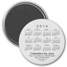 2014 Calendar Business Card Template Fridge Magnet Design from Calendars by Janz