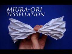 Miura-Ori Origami Tessellation Tutorial--how to do the map fold