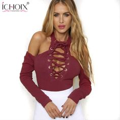 0208d5e8453 ICHOIX 2017 New Style Women Shorts Rompers Sexy Bandage Strapless Jumpsuit  Long Sleeve Party Jumpsuits Combinaison