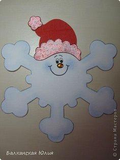 Attività Creative Per Bambini: Fiocchi di neve natalizi