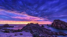 And the sky explodes! Western Australia's stunning coast. (OC) (7304x4109)