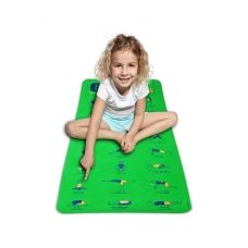 This mat is for kids and shows 21 different yoga poses on the mat.  It also comes with an animated dvd.