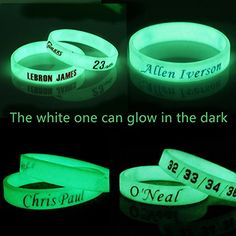 Amazon.com : Silicone Wristband Bracelet NBA, -- Allen Iverson-- more NBA Stars to Arrive-4PCS, Assorted color. (Allen Iverson) : Sports & Outdoors
