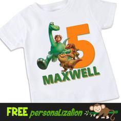 The Good Dinosaur Personalized birthday Tshirt por swingNmonkeez