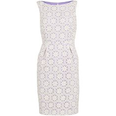 Gina Bacconi Daisy Embroidered Organza Dress, Spring Lavender (€300) ❤ liked on Polyvore featuring dresses, white mini dress, white floor length dress, mini dress, long-sleeve mini dress and sleeve maxi dress