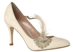 1920's shoes -- I'd consider something like this in chocolate brown.