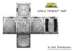 Eagle Marin Cloth Box papercraft. Marin de Águia Caixa de Pandora/Urna Sagrada…