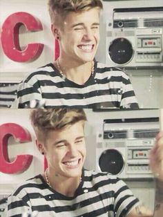 I love Justin really smile he so for me because you smile we smile we love you.