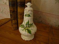 "Vintage Hammersley Lily of the Valley Bone China  SUGAR SHAKER 7 1/4"""