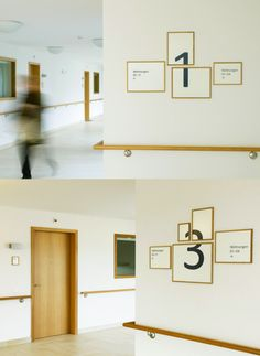 signage for the home for the elderly in Hottingen, Zurich by Aline Dallo, Tina Stäheli and Kathrin Urban of iA