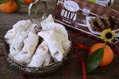 Cornulete fragede cu halva Mai, Camembert Cheese, Food, Romania, Recipes, Meals, Yemek, Eten