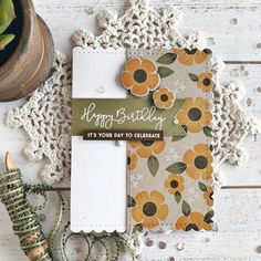 Happy Birthday Card by Heather Nichols for Papertrey Ink (February 2018)