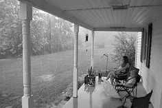 Let's sit out on the porch during a summer rain storm.