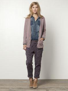 Angora mohair mixed v-neck cardigan  €129.95 (in Lavender)