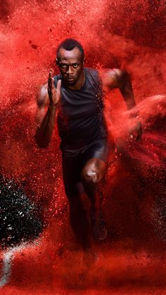 Usain Bolt, athlete, red powder blast, photoshoot wallpaper Source by wallpapercan Corporate Portrait, Business Portrait, Usain Bolt Running, Hd Cute Wallpapers, Sports Marketing, Olympic Athletes, Runners World, Parkour, Speed Racer