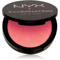 Nyx Illuminating Bronzer ($9) ❤ liked on Polyvore featuring beauty products, makeup, cheek makeup, cheek bronzer, chaotic and nyx