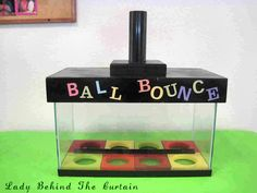 Ball Bounce Game (All Ages) - Lady Behind the Curtain Halloween Carnival Games, School Carnival Games, Spring Carnival, School Games, Carnival Ideas, Carnival Booths, Halloween Night, Halloween Stuff, Halloween Party