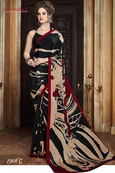 Casual Wear Multi-Colour Crepe Silk Saree  - SUSHMA-1906-C