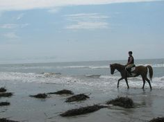 Riding on the beach @ Seabrook Island
