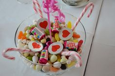 Bowl of sweets.