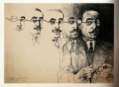 Borges todo el año: Antonio Requeni: Jorge Luis Borges habla de Leopoldo Lugones (1979) - Imagen: Leopoldo Lugones por Carlos Alonso (1983)