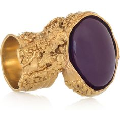 Yves Saint Laurent Arty gold-plated glass ring (1 890 SEK) found on Polyvore