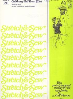 Stretch & Sew Pattern 890 ~ Children's Tab Front Shirt ~ Sizes 8-10-12