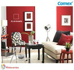 Contrasta el color rojo con uno más frío para dar una sensación cálida. El rojo en exceso puede provocar inquietud. #TendenciasComex