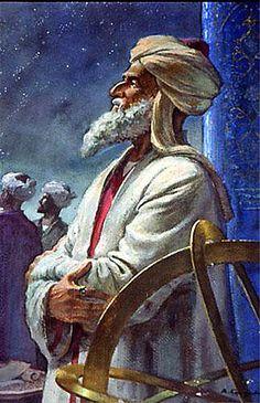 bu Rayhan Biruni observing the stars بوریحان بیرونی