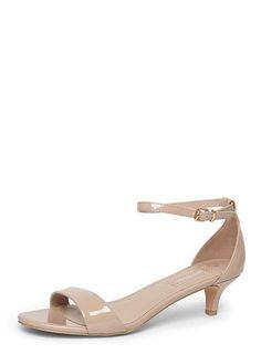 Nude Patent 'Sundae' Low Heel Sandals - Heels - Shoes & Boots - Dorothy Perkins