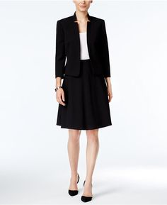 Tahari ASL Two-Button Skirt Suit | Women's Suits | Pinterest ...