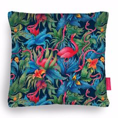 Jungle Boogie Cushion: This amazing cushion by  Amelie Barnathan is just one of our growing collection of quirky illustrated pillows. The back cover is stone coloured, and the whole thing is Vegan.