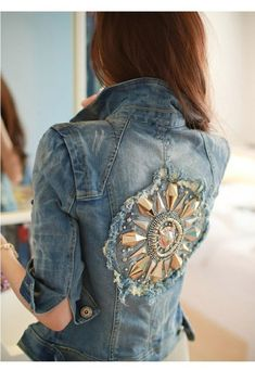 cool, cute, denim, girl, jacket, tops